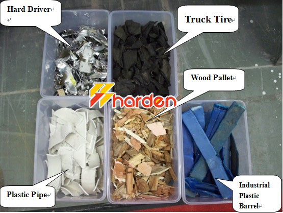 wood shredder, plastic shredder, e-waste shredder, tyre shredder, ferreous shredder