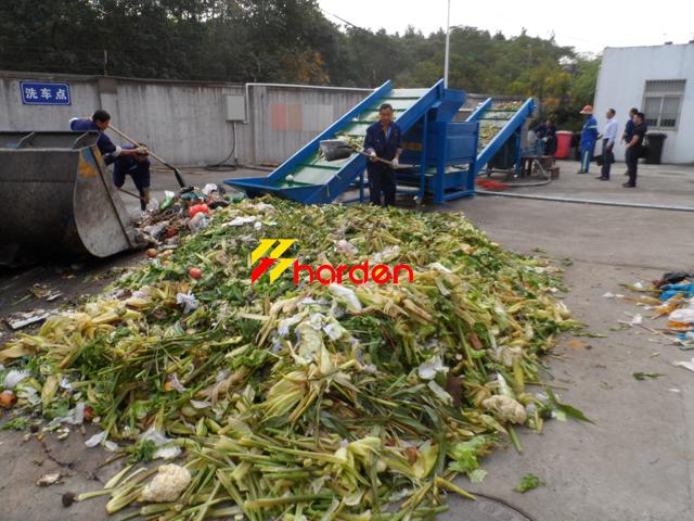 organic waste shredder line